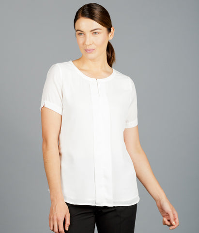 Ladies Harper Box Pleat Blouse
