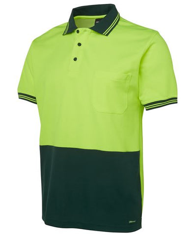 Hi Vis Short Sleeve Cotton Back Polo