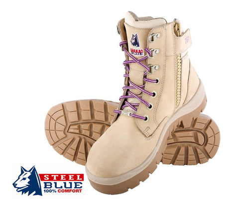 Steel Blue 522761 Southern Cross - Zip Side Ladies Safety Boots
