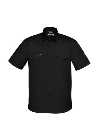 work-shirt-tradie-outdoor-short-sleeve-syzmik-rugged-cool-black