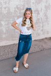 Peyton High-Low Denim Skirt