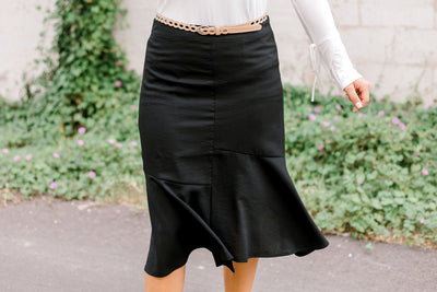 Fitted Ruffle Skirt