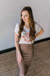 Jane Pencil Skirt in Mocha