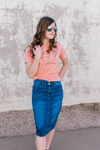 Hey Gorgeous Graphic Tee in Apricot