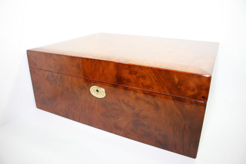 Daniel Marshall 20165 Series 165 Count Humidor in Precious Burl with Tray