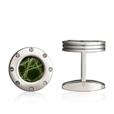 Colibri Daytona 2 Cuff Link Stainless + Green Gator - T30061CL - Cigar Manor