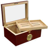 Berkeley 100 Cigar Humidor with Glass Top & External Hygrometer - BRKLY - Cigar Manor