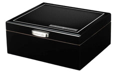 Black Label Carbon Mesh Humidor - LBLH100 - Cigar Manor