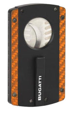 BUGATTI BCC100 BCC2 Carbon Fiber/Polymide Orange Cigar Cutter - BCC-103 - Cigar Manor