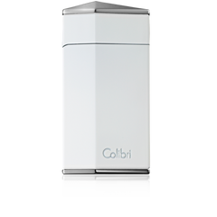 Colibri Diamond Single Jet Flame Lighter Polished White - C10002LI - Cigar Manor