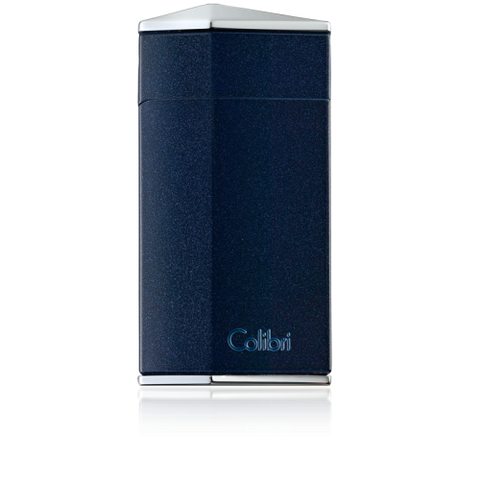 Colibri Diamond Single Jet Flame Lighter Metallic Blue