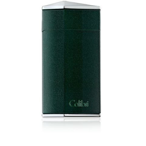 Colibri Diamond Single Jet Flame Lighter Metallic Green