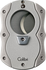 Colibri Cut Cigar Cutter Silver Rubber + Satin - CU100T002 - Cigar Manor