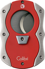 Colibri Cut Cigar Cutter Red Rubber + Satin - CU100T003 - Cigar Manor