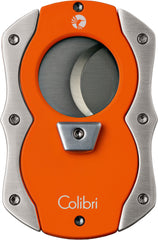 Colibri Cut Cigar Cutter Orange Rubber + Satin - CU100T004 - Cigar Manor