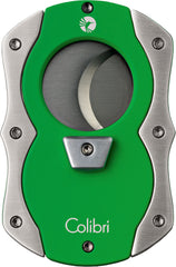 Colibri Cut Cigar Cutter Green Rubber + Satin - CU100T006 - Cigar Manor