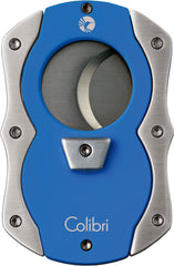 Colibri Cut Cigar Cutter Blue Rubber + Satin - CU100T007 - Cigar Manor