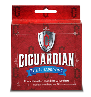 Ciguardian Large Round Chaperone Humidifier - Up to 100 Cigars