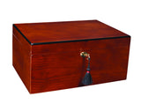 Savoy Ash Burl Humidor Medium Up to 50 Cigars - HSAABM - Cigar Manor