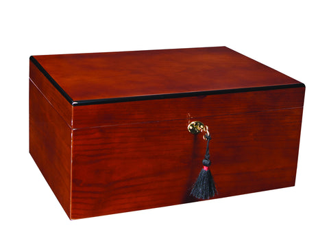 Savoy Ash Burl Humidor Medium Up to 50 Cigars