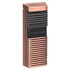 BLACK LABEL El Presidente Flat Flame Lighter Copper Satin & Gun - LBL50010 - Cigar Manor