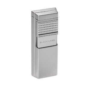 BLACK LABEL El Presidente Flat Flame Lighter Brushed Chrome
