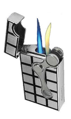 Vector Elite 1C Dual Flame Chrome Satin 2-Tone - Elite_1C - Cigar Manor