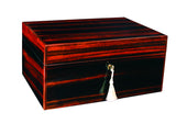 Savoy Executive Series Humidor with Boveda Ebony Macassar Large - 100 Cigars - HSAESEML - Cigar Manor