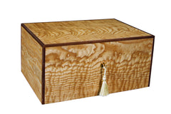 Savoy Executive Series Humidor with Boveda Olive Ash Burl Medium - 50 Cigars - HSAESOABM - Cigar Manor