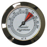 Analog Silver Hygrometers - HYB134/S - Cigar Manor