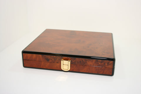 Daniel Marshall Slim Travel Humidor Burl