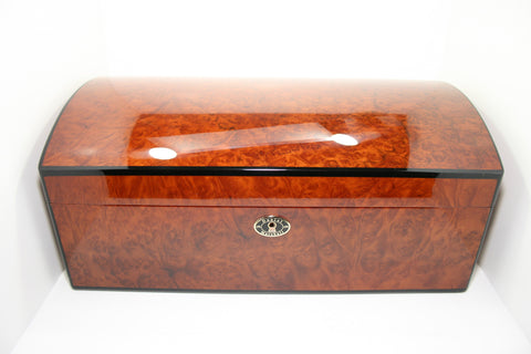 Daniel Marshall Treasure Chest 150 Count Humidor in Precious Burl Wood