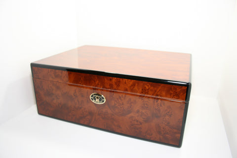 Daniel Marshall 30125 Series 125 Count Humidor in Precious Burl Wood w/ Tray