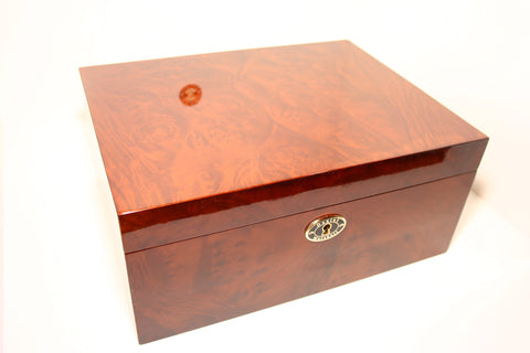 Daniel Marshall 30100 Cigar Humidor in Precious Burl with Tray