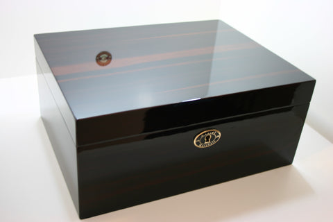 Daniel Marshall 30100 Cigar Humidor in Macassar Ebony with Tray