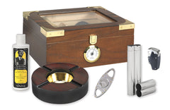 Capri 50 Cigar Humidor Kit Elegant - KIT-HUM-25EL - Cigar Manor