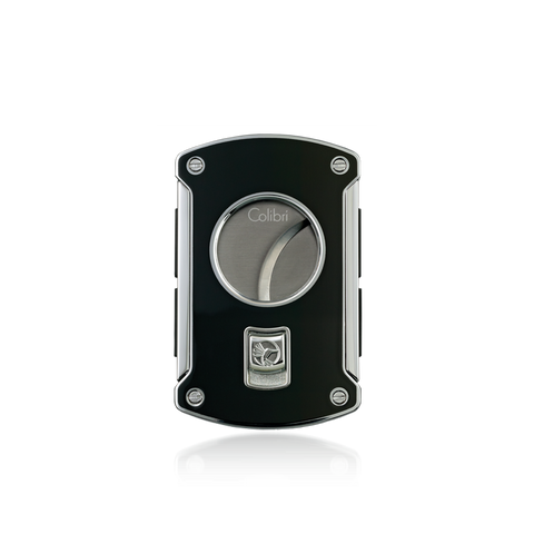 Colibri Slice Cigar Cutter Black Lacquer + Polished Chrome