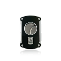 Colibri Slice Cigar Cutter Black Lacquer + Polished Chrome - KNF000700 - Cigar Manor