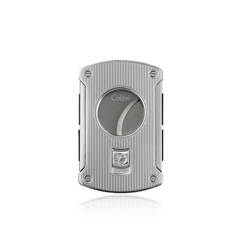 Colibri Slice Cigar Cutter Polished Chrome Pinstripe