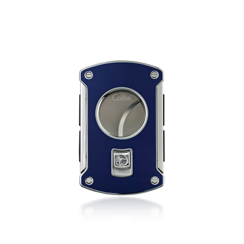 Colibri Slice Cigar Cutter Blue Lacquer + Chrome
