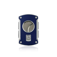 Colibri Slice Cigar Cutter Blue Lacquer + Chrome - KNF000702 - Cigar Manor