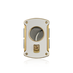 Colibri Slice Cigar Cutter White Lacquer + Gold - KNF000704 - Cigar Manor