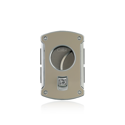 Colibri Slice Cigar Cutter Thunder Gray Lacquer + Polished Chrome