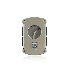 Colibri Slice Cigar Cutter Thunder Gray Lacquer + Polished Chrome - KNF000705 - Cigar Manor