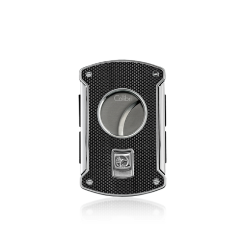 Colibri Slice Cigar Cutter Black Carbon Fiber + Polished Chrome