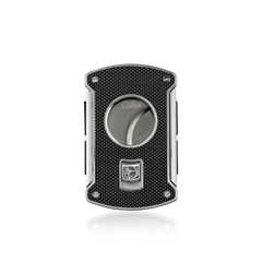 Colibri Slice Cigar Cutter Black Carbon Fiber + Polished Chrome - KNF000710 - Cigar Manor