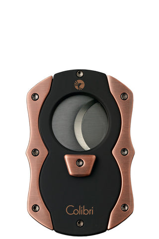 Colibri Cut Cigar Cutter Black + Rose Gold