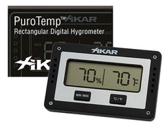 Xikar PuroTemp Rectangular Digital Hygrometer - XA-28112 - Cigar Manor