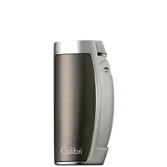 Colibri Enterprise 3 Lighter Gunmetal Satin Chrome + Polished - QTR115003 - Cigar Manor