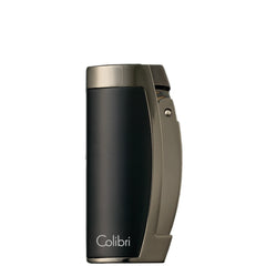 Colibri Enterprise 3 Lighter Matte Black Gunmetal Polished - QTR115005 - Cigar Manor